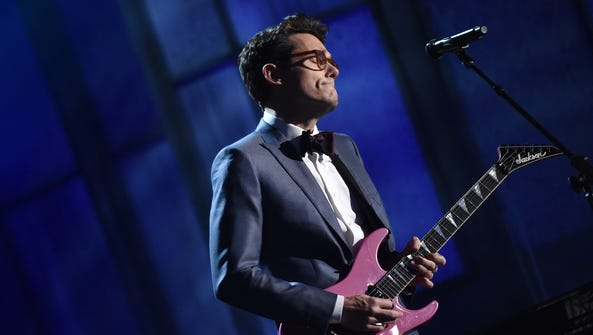 John Mayer performs at the 57th annual Grammy Awards