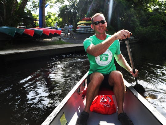 Cape Coral resident Erik Elsea plans on paddling the length of the Mississippi River starting next week. He plans on taking 90 days. He is raising funds for ShelterBox. He trains on the Estero River out of Estero Bay Outfitters.