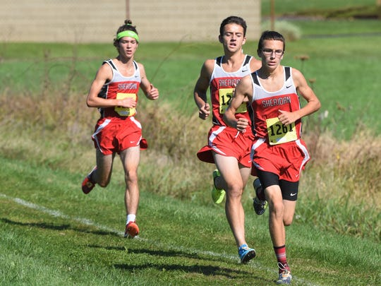Sheridan's William Wilke (right), who competed in last season's MVL cross country meet, won the TR Non-Football Athlete of the Week honor.
