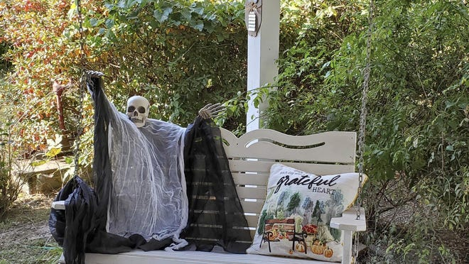 Along with pumpkins and wreaths, ghouls and ghosts are a fall staple on porches and outside of homes leading up to Halloween.