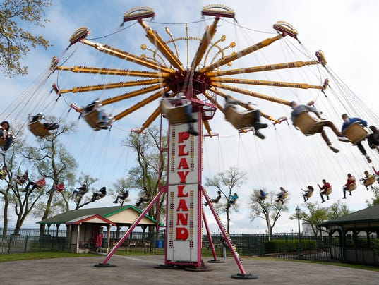 Playland Park Opening Day