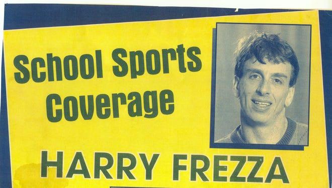 A 1997 billboard promoting Harry Frezza.
