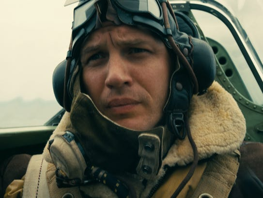 Tom Hardy portrays a Spitfire pilot in 'Dunkirk.'
