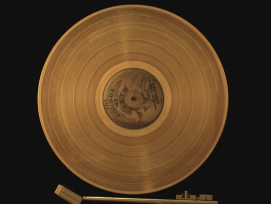 The iconic golden record is part of NASA's Voyager