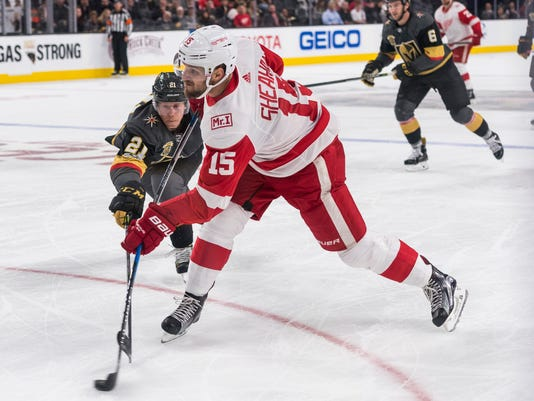 Red Wings trade Riley Sheahan to make cap space for Andreas Athanasiou d1f91f781ae