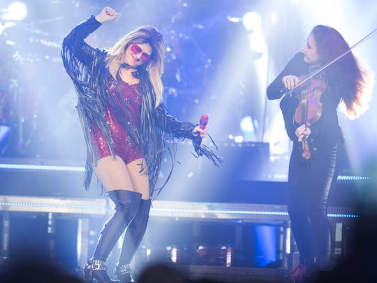 Shania Twain performs at her Rock This Country Tour on Saturday, July 25, 2015 at the Palace of Auburn Hills in Auburn Hills.