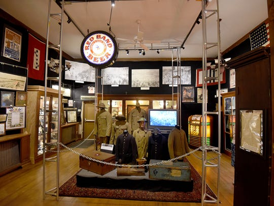 The America Goes to War display at Mansfield Memorial Museum.