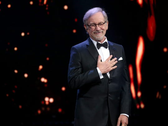 Steven Spielberg receives the Lifetime Achievement Award during the 62nd David Di Donatello awards ceremony on March 21, 2018 in Rome.