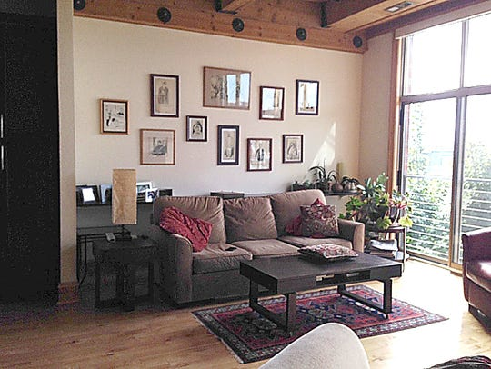This living room of a condo sold by Mary Beth Waite