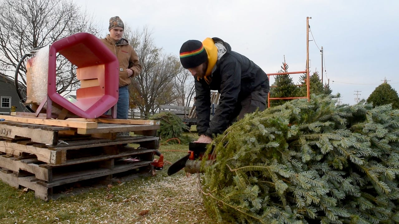 The Neiderer family started selling Christmas trees three years ago to help fund their cousin's fight against cancer. After the passing of their cousin, Kurt Riser, the family decided to continue selling the trees and donating the money.
