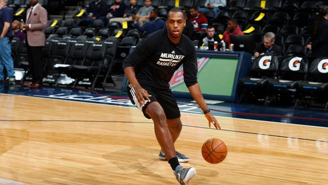 Guard Khris Middleton is back with the Bucks after missing four months with a hamstring injury and could play a key part in the Bucks push for the playoffs.