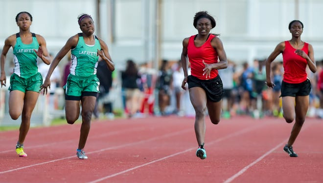 Claudasha Watson has the area's best girls times in the 100 and 200.