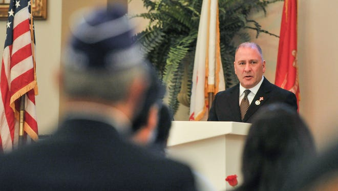 Keynote Speaker  Congressman Clay Higgins at the 53rd Annual memorial Day Trubute at Walters Funeral Home. Monday, May 29, 2017.
