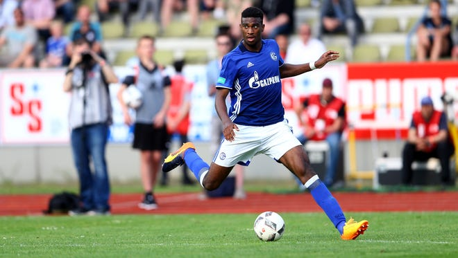 Haji Wright, playing with Schalke's U19 team, hopes to get playing time with the senior team next season.