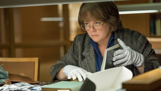 "Melissa McCarthy takes on a more serious role than usual as celebrity biographer Lee Israel in ""Can You Ever Forgive Me?"""