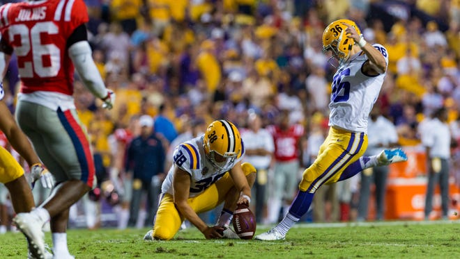 Newbury Park High graduate Cole Tracy could be one of the first kickers to picked in this year's NFL draft after starring for LSU.