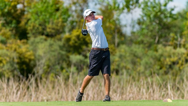 Matt Weber, shown here at the Lafayette City Golf Championships in October, was named MVP of the All-Acadiana golf team.