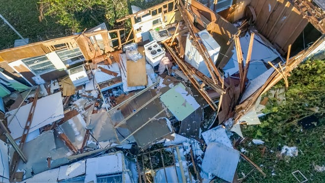 Drone photos of Damage caused by Hurricane Michael in Panama City, FL. Friday, Oct. 12, 2018.