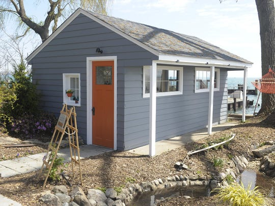 Debbie Rossman of Tiny and Smart LLC worked with JD Engle Construction to convert an old shed into a tiny house for the Junior League's Designers' Show House.