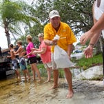 Flooding continues to be a problem following rain on Old Keystone Road in Tarpon Springs.