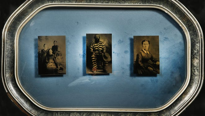 Jane Lindsay created the triptych that depicts William J Flake, Prudence Flake and Lucy Flake.