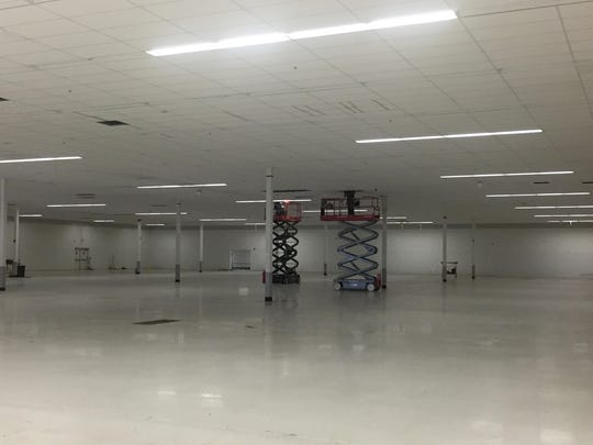 The inside of a former Kmart in Detroit that U-Haul
