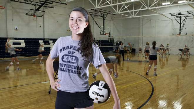 Taylor Wilson helped lead Providence to a volleyball state title.