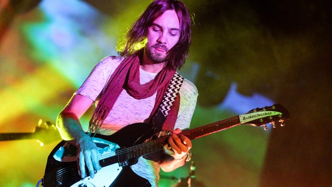 Tame Impala frontman Kevin Parker performs at Hollywood Forever Cemetery on Aug. 6 in Los Angeles. The Aussie psych-rock band will return to the U.S. Oct. 2 for Austin City Limits.