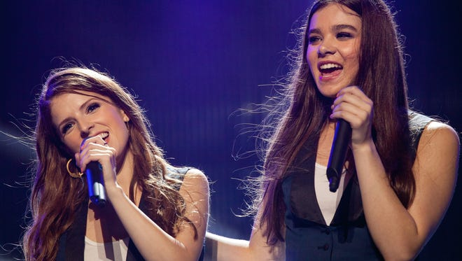 Anna Kendrick (left) and Hailee Steinfeld in 'Pitch Perfect 2.'