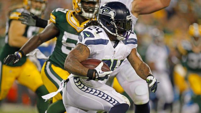 Seattle Seahawks running back Marshawn Lynch.