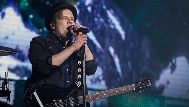 Patrick Stump of Fall Out Boy performs on Friday, Mar. 25, 2016 at Talking Stick Resort Arena in Phoenix.