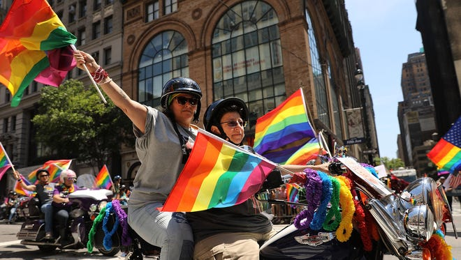 Celebrities on social media marked the occasion of New York's parade supporting LGBTQ pride.