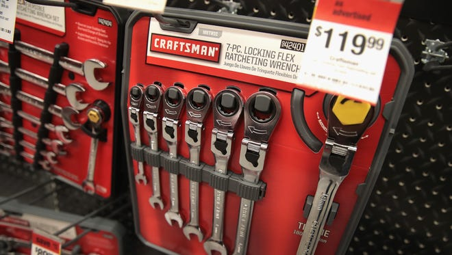 OAK PARK, IL - JANUARY 05:  Craftsman tools are offered for sale at a Sears store on January 5, 2017 in Oak Park, Illinois. Sears announced it was selling their Craftsman tool to line to Stanley Black & Decker for $900 million.