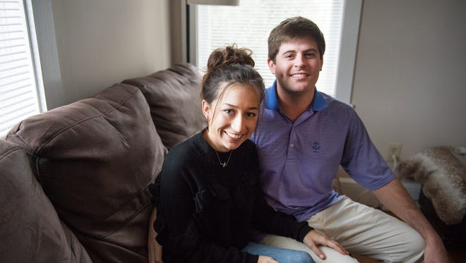 Brewer and Cassidy Bradshaw are pictured in their home in Seneca on Wednesday, December 6, 2017.