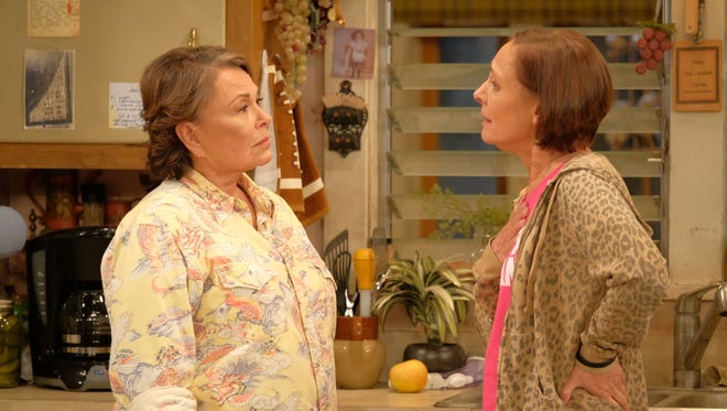 A big audience tuned in Tuesday to watch familiar TV friends Roseanne (Roseanne Barr), left, and Jackie (Laurie Metcalf) spar on ABC's 'Roseanne.'