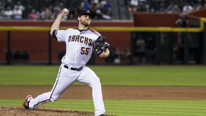 Diamondbacks pitcher Matt Koch throws against the Brewers in the 2nd inning on Wednesday, May 16, 2018 at Chase Field in Phoenix.