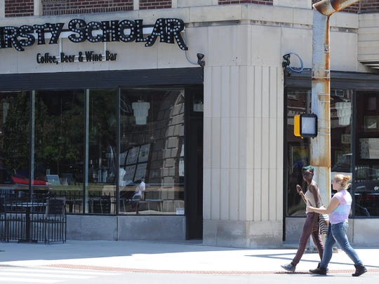 Thirsty Scholar, a  coffee, wine beer bar, opened July 24, 2013 at 16th and Pennsylvania Streets. Here is a look at the bar on its first day in business.