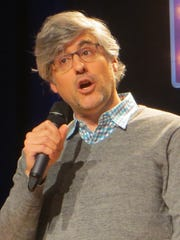 """Mo Rocca introduces the """"Come From Away"""" show spotlight during BroadwayCon 2018, held from Jan. 26 to 28, 2018, at the Javits Center in Manhattan."""
