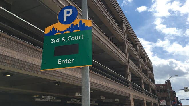 A man was stabbed at a parking garage on 3rd Street and Court Avenue in downtown Des Moines early Sunday morning.
