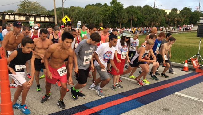 The start of the Flamingo Run on Saturday, April 23, 2016 in Melbourne.