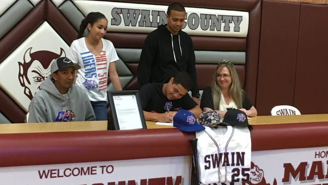 Swain County senior Zack Epps has signed to play college baseball for Chattanooga State (Tenn.).