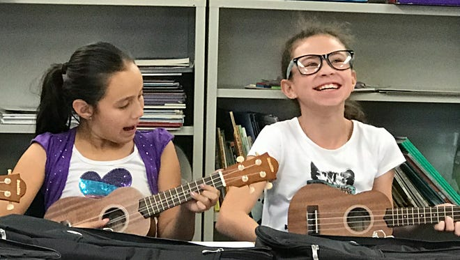 Students are discovering the joy of the ukulele in a new music education program at two Palm Springs Unified elementary schools.