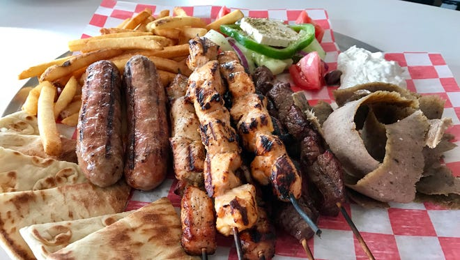The King Leonidas platter from Molon Labe is a Greek feast for four.