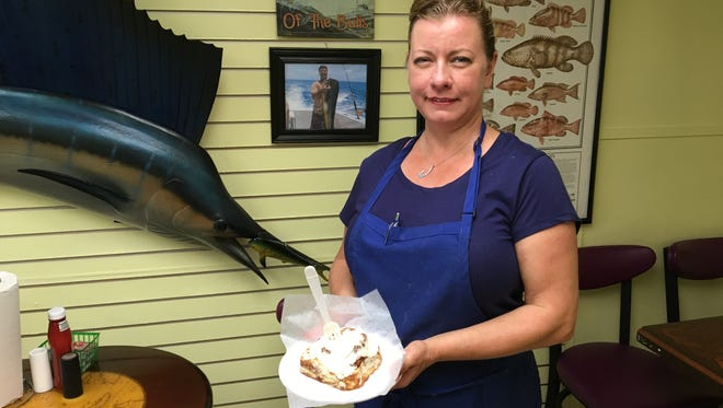 Heather Reagan is the owner of Mom's on Fort Myers Beach, which specializes in biscuits and baked goods.