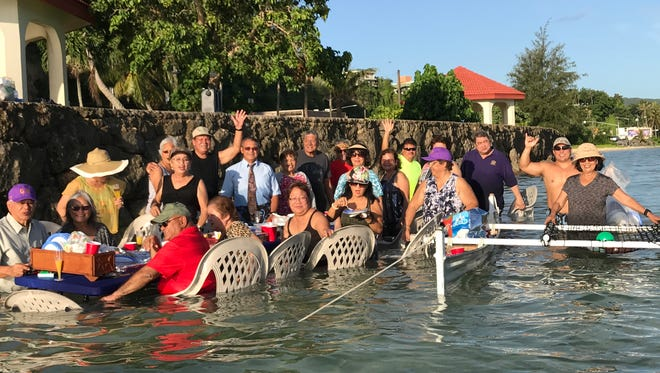 """""""Breakfast in the water,"""" held July 8, kicked off the 50th reunion of the Class of 1967, which includes graduates from six Guam public and private schools."""