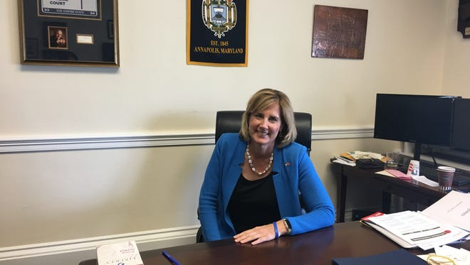 Rep. Claudia Tenney, R-New Hartford, N.Y., at her desk in her D.C. office during a wide-ranging interview in her office on Thursday, July 13.