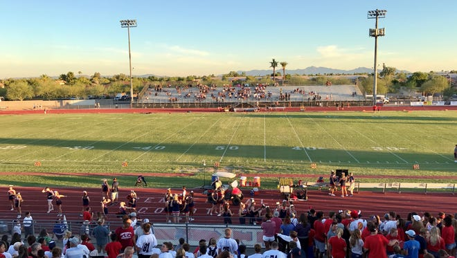 The 5A's top-ranked Peoria Centennial took on second-ranked Goodyear Desert Edge.