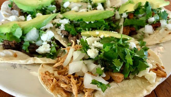 A sampling of tacos from Taco Viva in San Carlos Park.