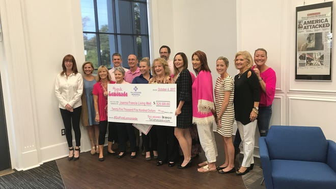 Pink Lemonade stands around Tallahassee raised more than $25,000 to support survivors and families grappling with breast cancer.