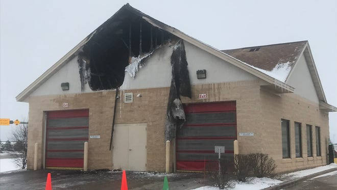 A fire damaged an R-Store car wash in Plover Sunday morning.